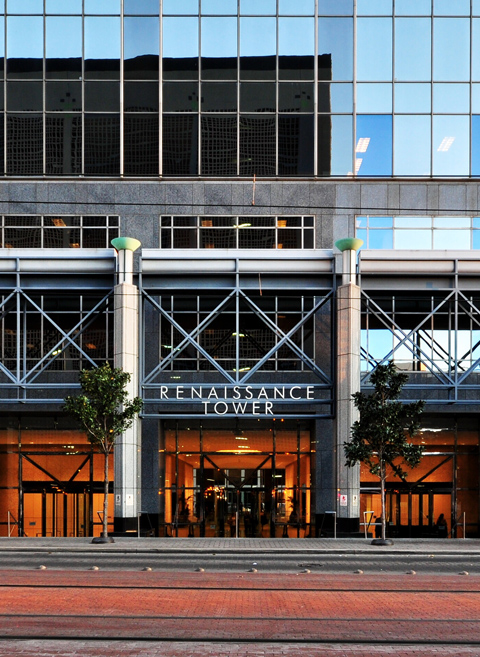 Exterior photo of Renaissance Tower, Dallas, TX 75270
